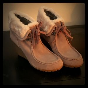 Sonoma fur lined winter wedges